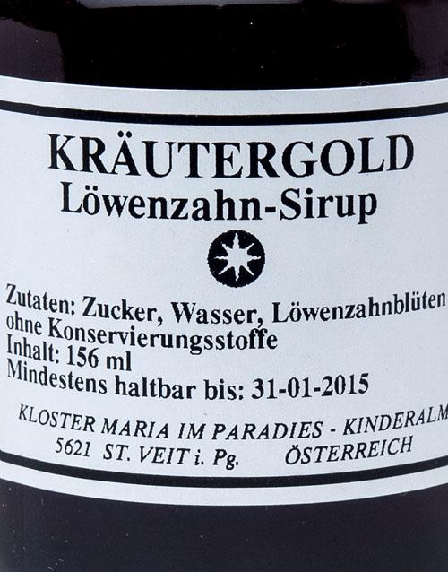 Kräutergold Löwenzahnsirup